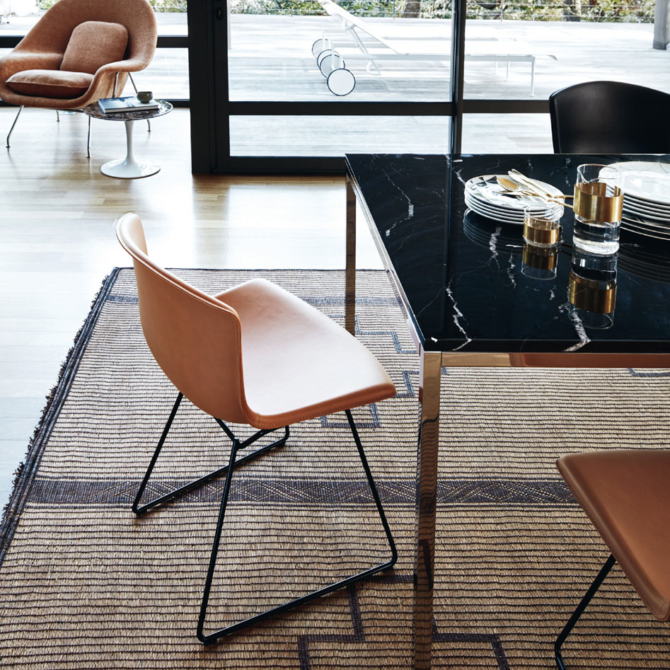 Bertoia Collection Side Chair in cowhide
