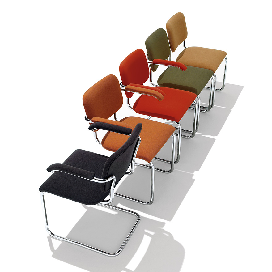 Breuer Collection Cesca Chair with Arms Upholstered