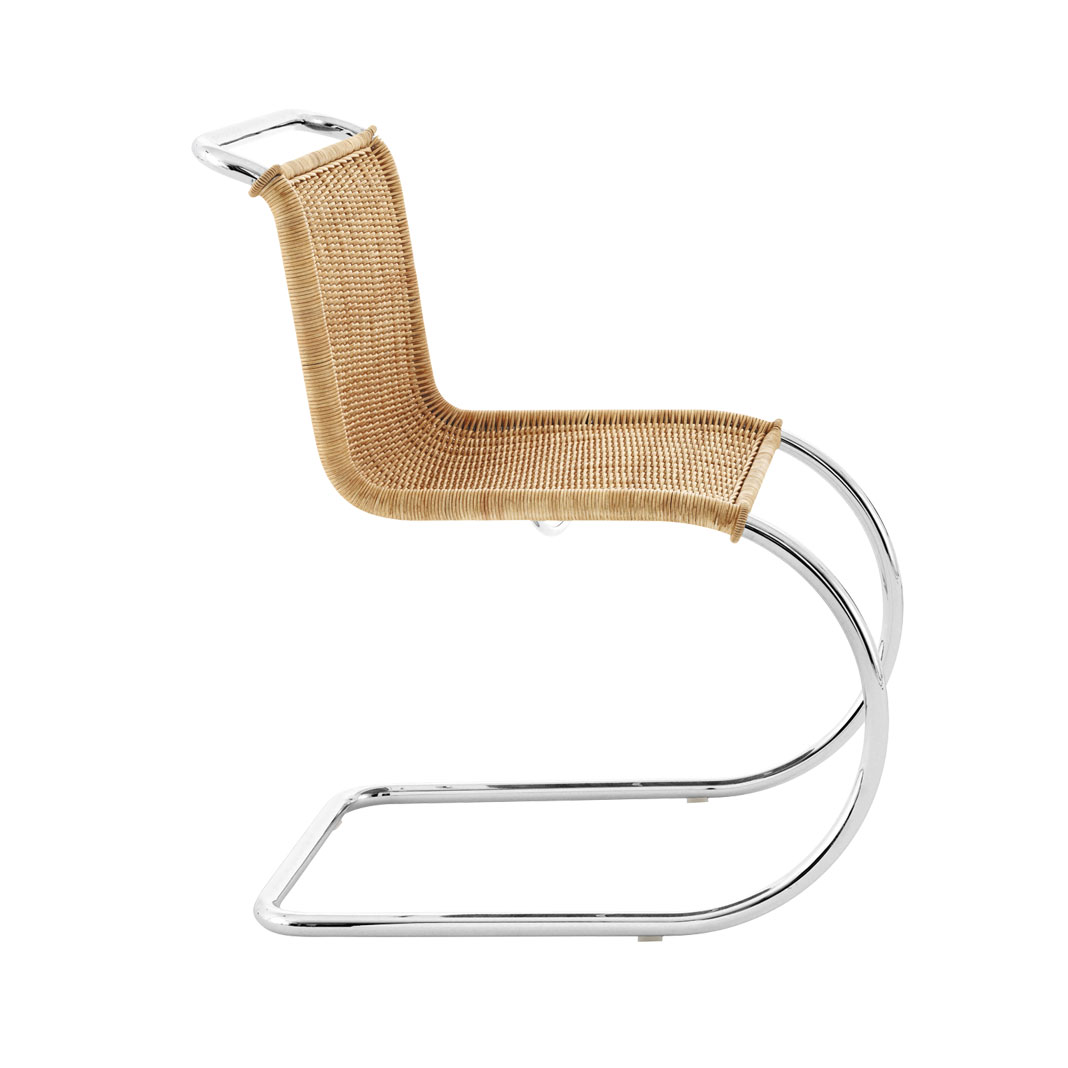 Mies van der Rohe Collection MR chair without Arms - Rattan