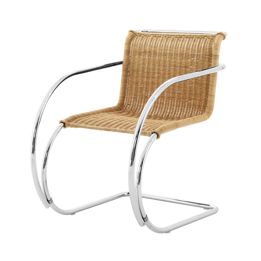 Mies van der Rohe Collection MR chair with Arms - Rattan