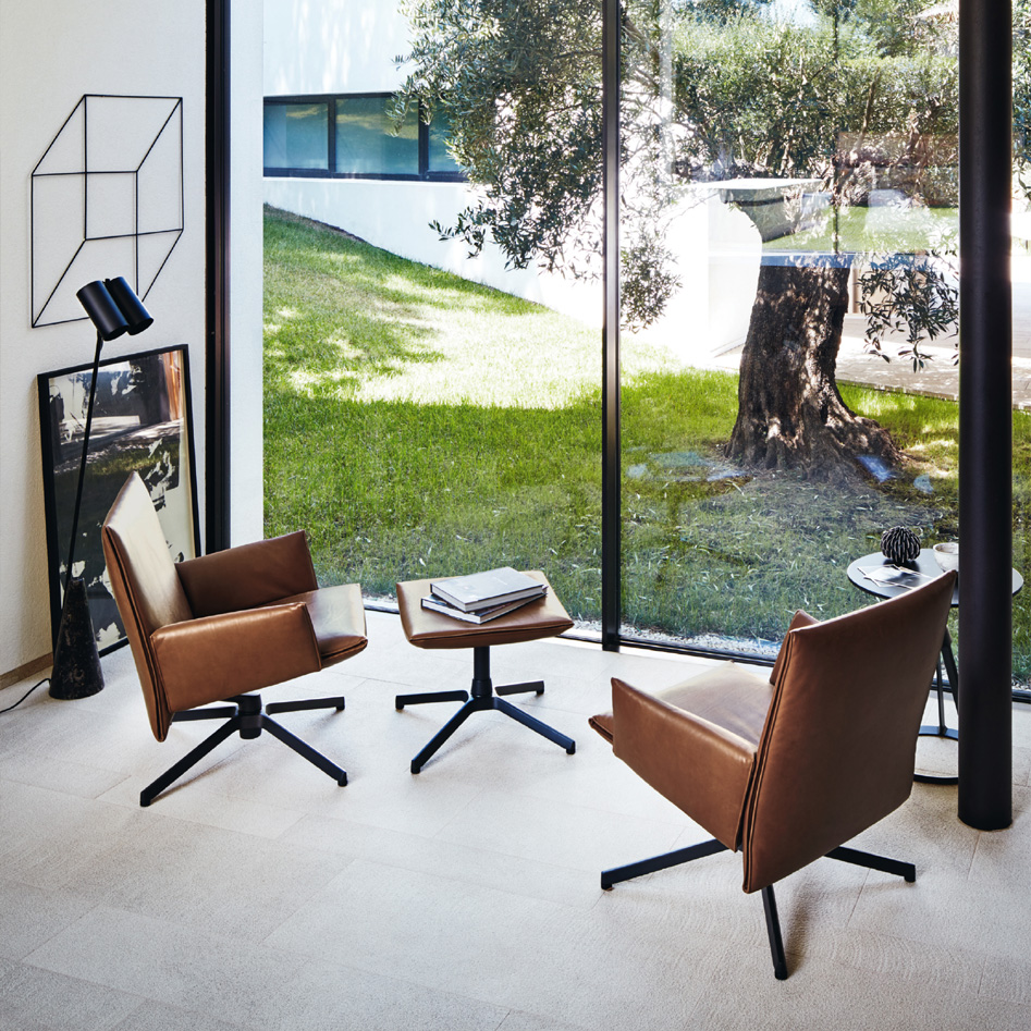 Edward Barber & Jay Osgerby Collection Pilot Chair for Knoll (Ottoman)