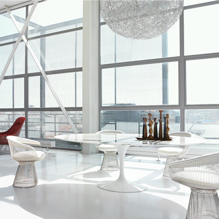 Platner Collection Lounge and Side Seating (Side chair)
