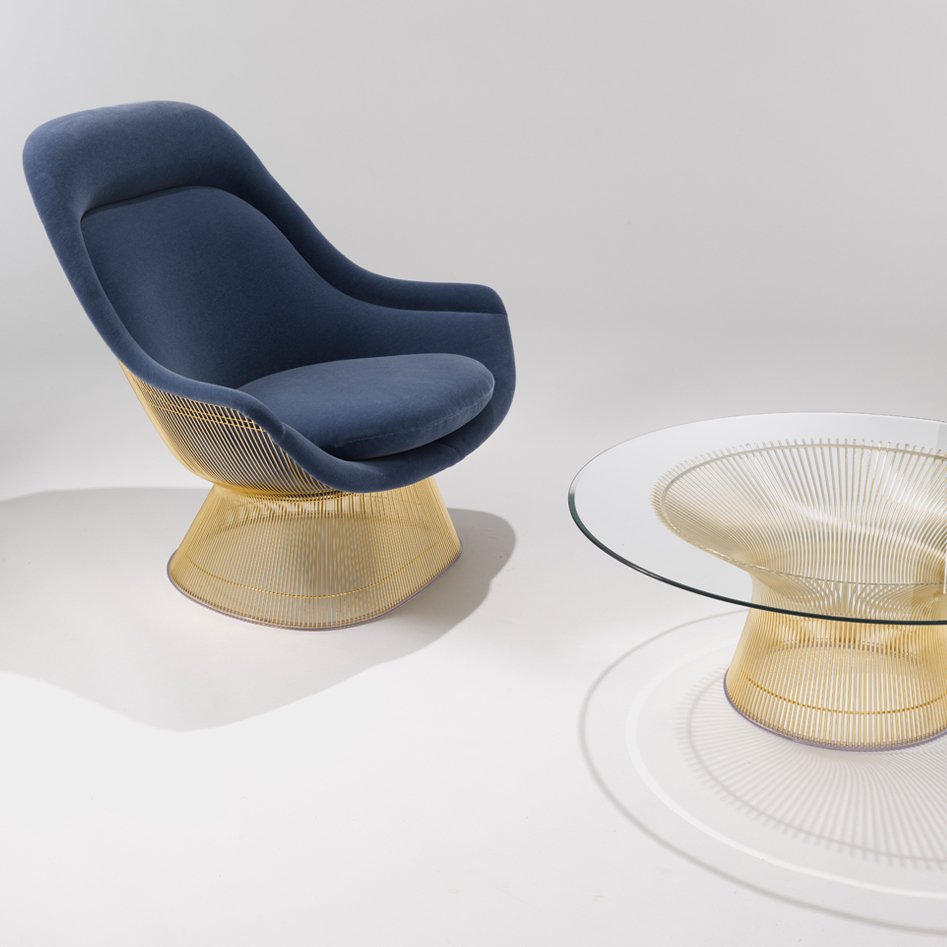 Platner Collection Lounge and Side Seating (Easy chair and Ottoman)