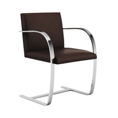 Mies van der Rohe Collection Brno armchair flat bar